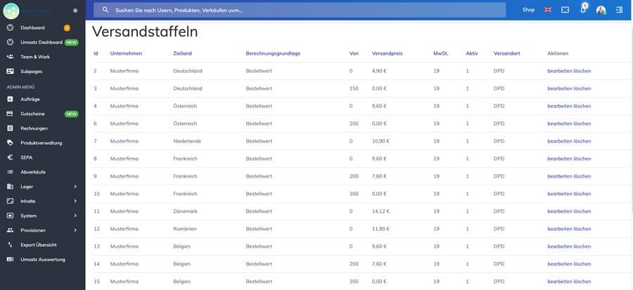 onPartner Software Screenshot