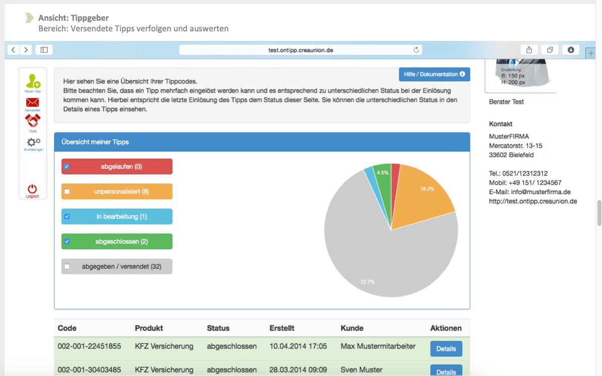 onTipp Software Screenshot